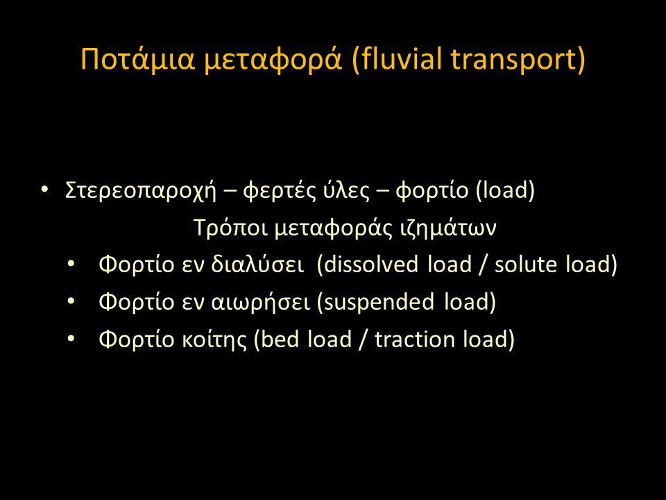 Ποτάμια μεταφορά (fluvial transport)
