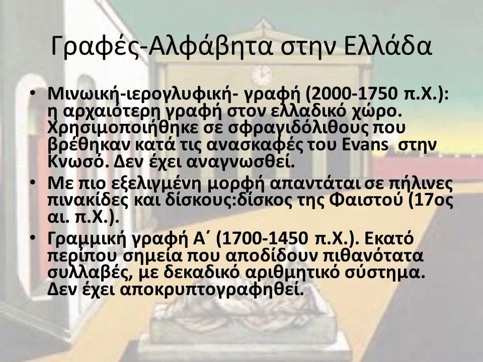 Γραφές-Αλφάβητα στην Ελλάδα