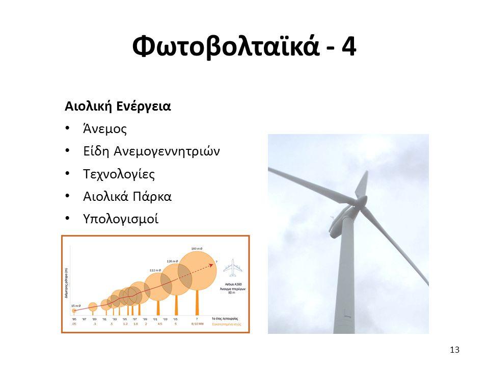 Φωτοβολταϊκά - 4 Αιολική Ενέργεια Άνεμος Είδη Ανεμογεννητριών