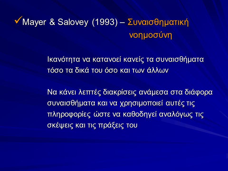 Mayer & Salovey (1993) – Συναισθηματική νοημοσύνη