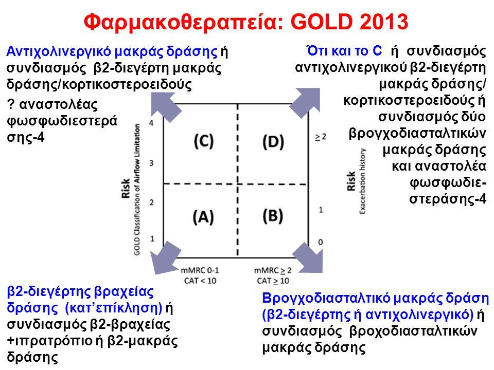 Φαρμακοθεραπεία: GOLD 2013