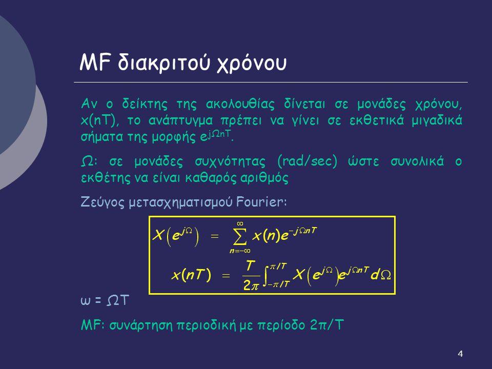MF διακριτού χρόνου