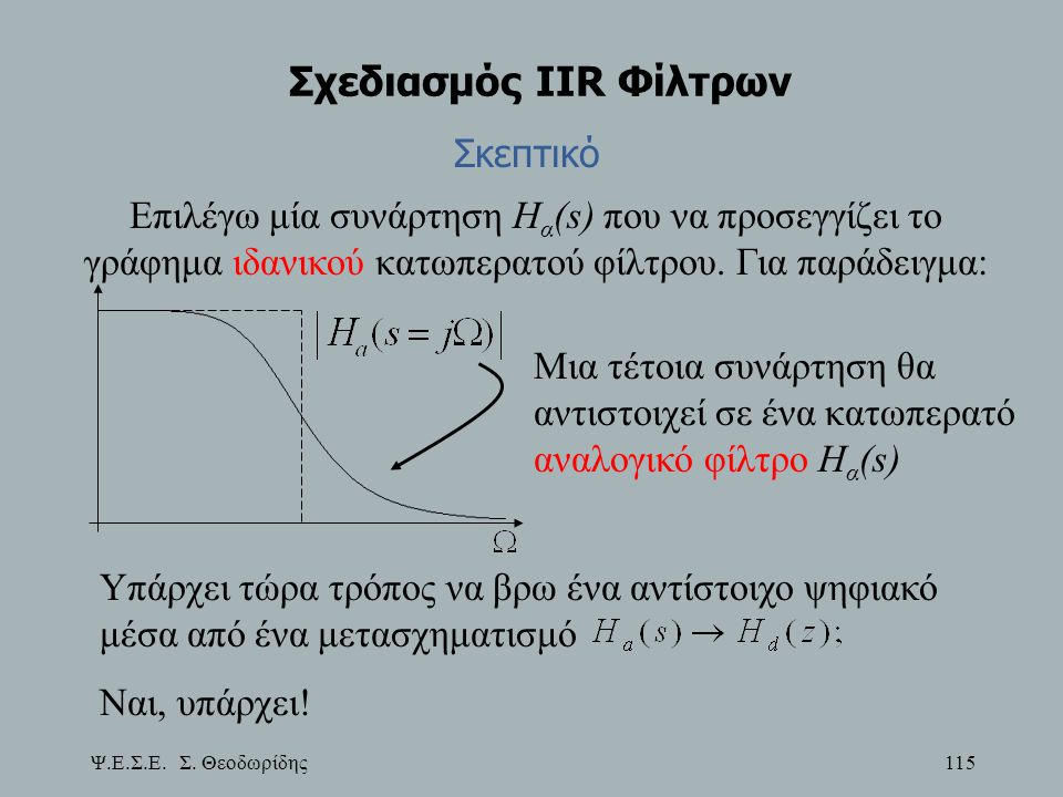 Σχεδιασμός IIR Φίλτρων