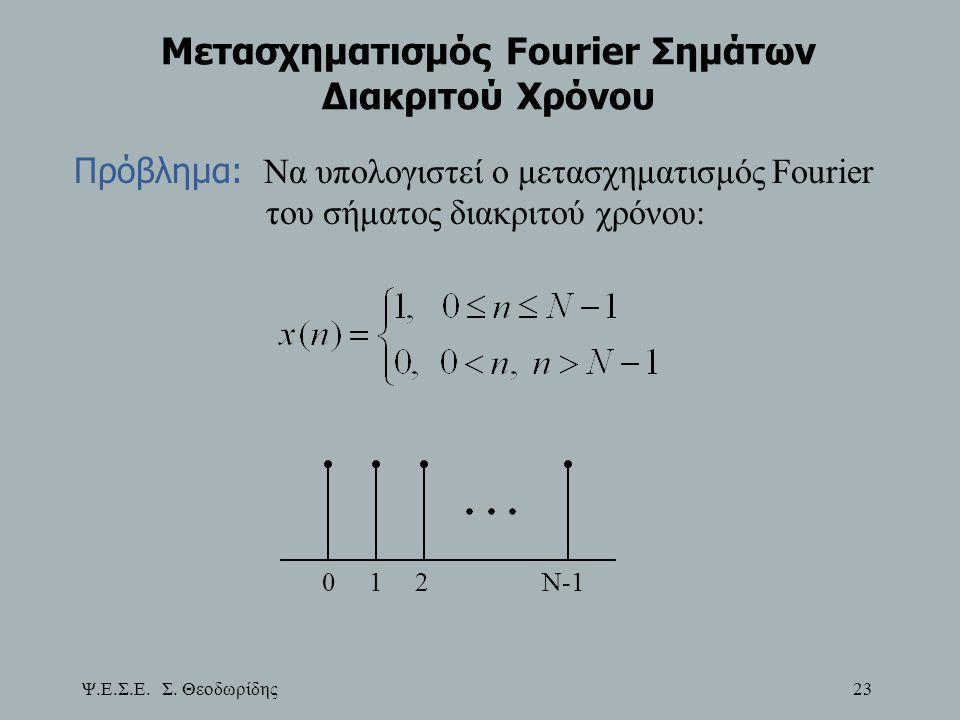Μετασχηματισμός Fourier Σημάτων Διακριτού Χρόνου