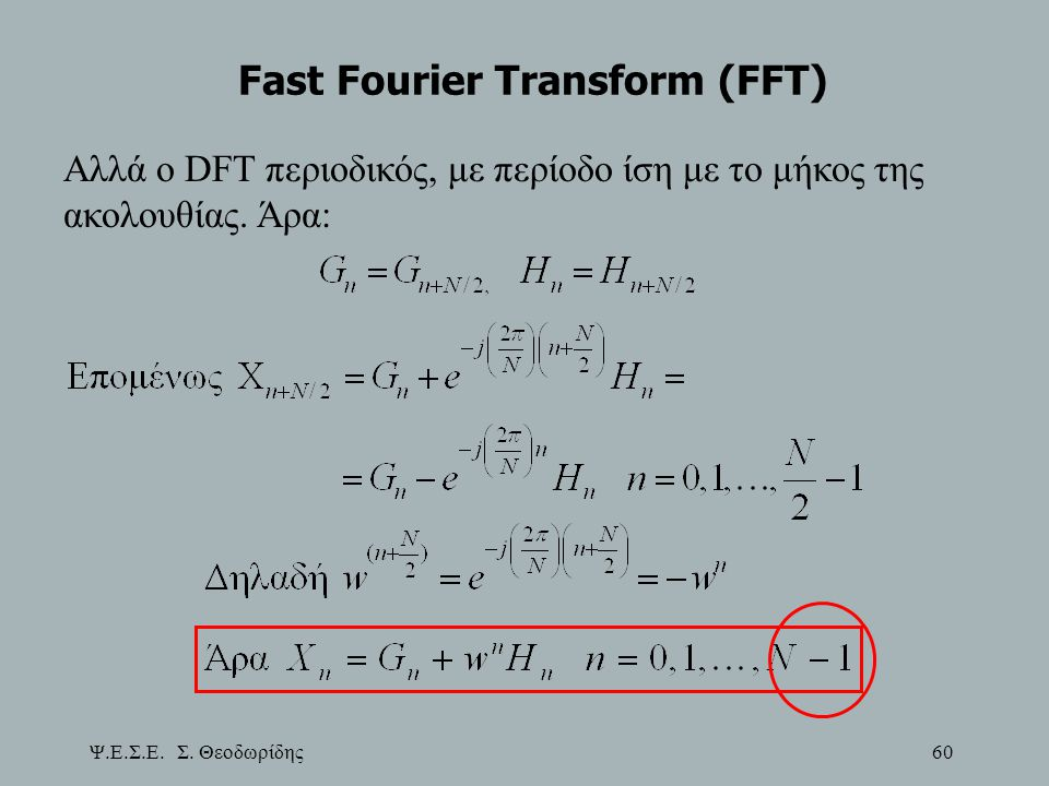 Fast Fourier Transform (FFT)