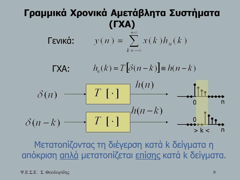 Γραμμικά Χρονικά Αμετάβλητα Συστήματα (ΓΧΑ)