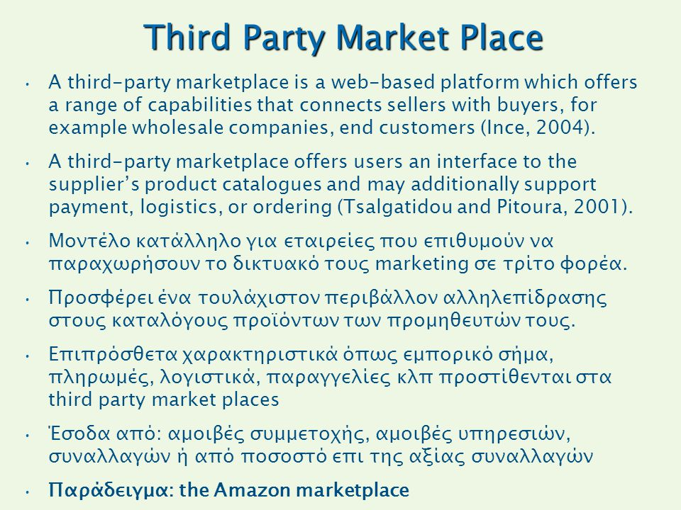 Third Party Market Place