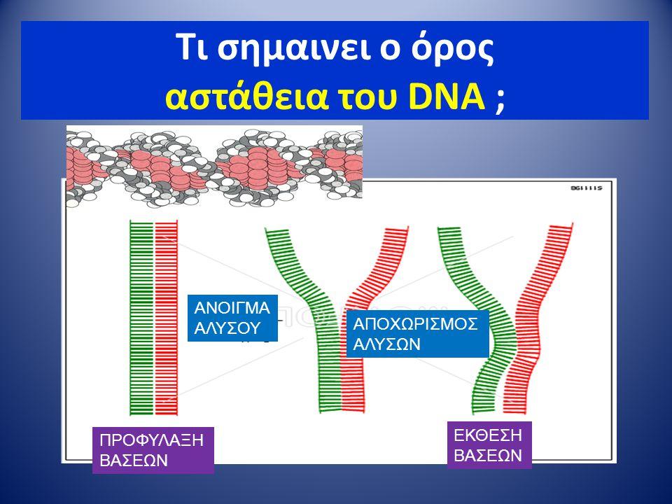 Τι σημαινει ο όρος αστάθεια του DNA ;
