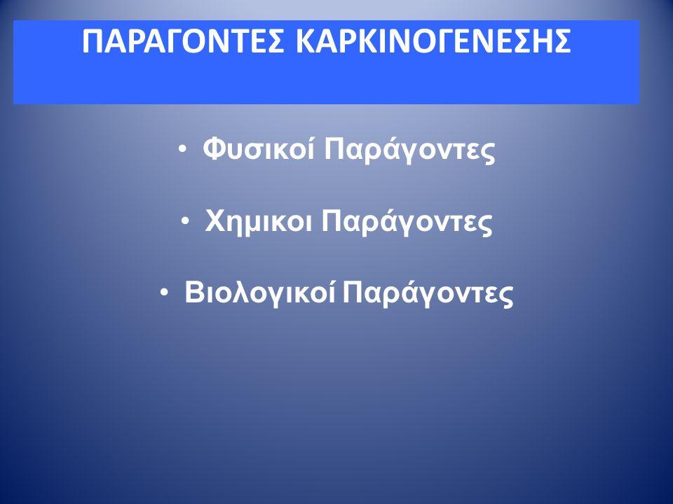 ΠΑΡΑΓΟΝΤΕΣ ΚΑΡΚΙΝΟΓΕΝΕΣΗΣ