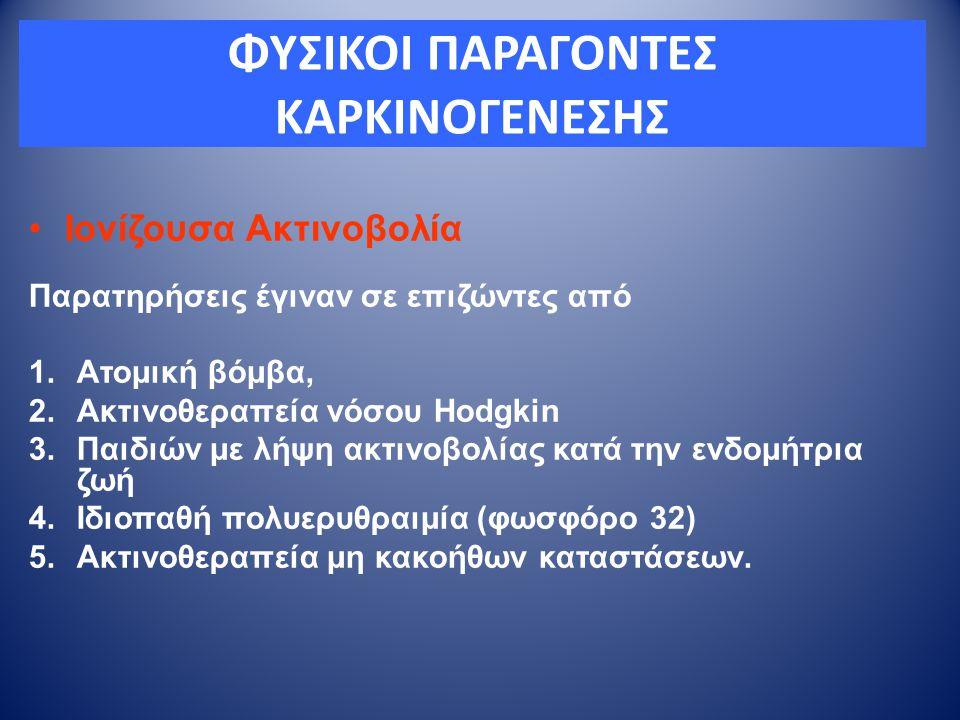 ΦΥΣΙΚΟΙ ΠΑΡΑΓΟΝΤΕΣ ΚΑΡΚΙΝΟΓΕΝΕΣΗΣ