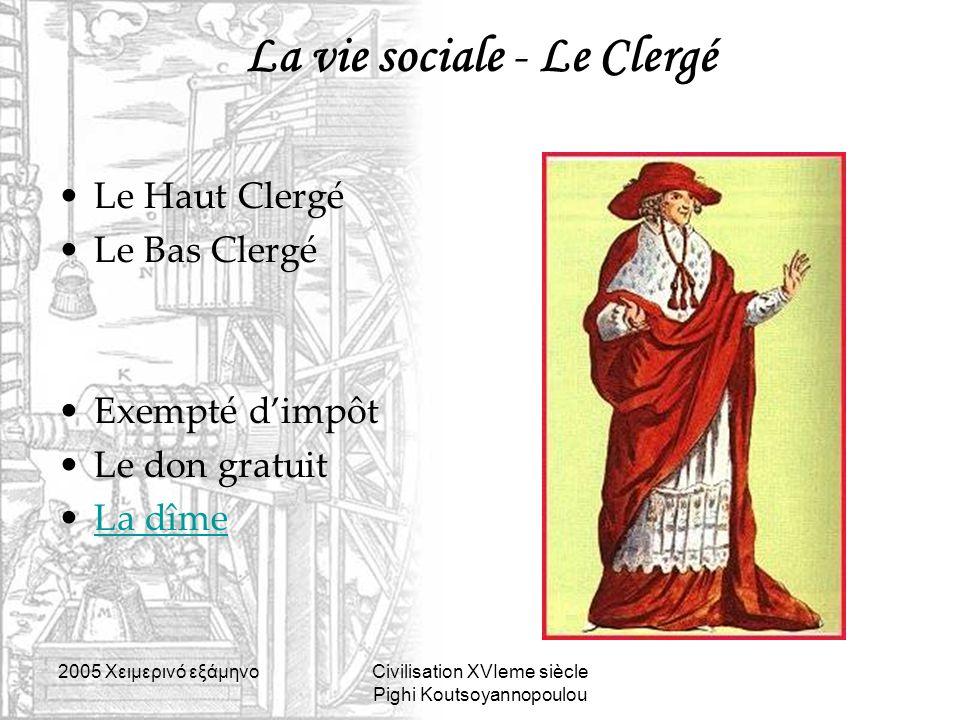 La vie sociale - Le Clergé