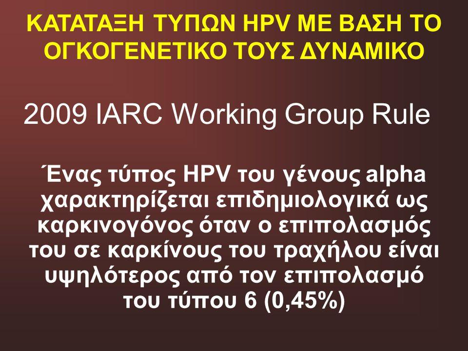 2009 IARC Working Group Rule