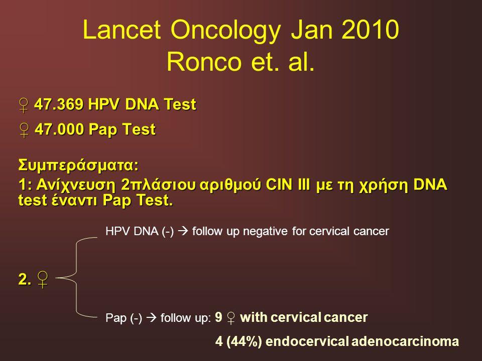 Lancet Oncology Jan 2010 Ronco et. al.