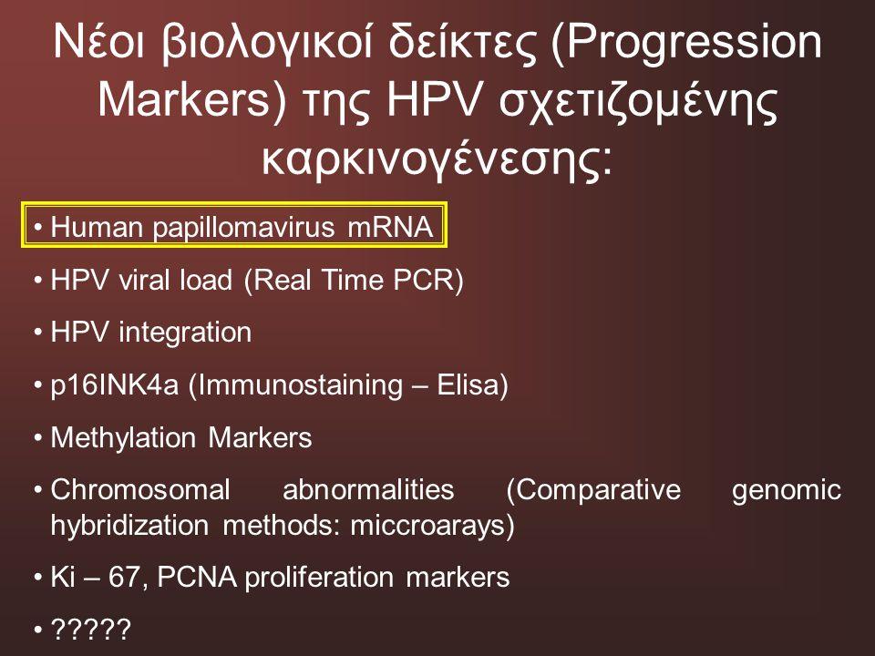 Νέοι βιολογικοί δείκτες (Progression Markers) της HPV σχετιζομένης καρκινογένεσης: