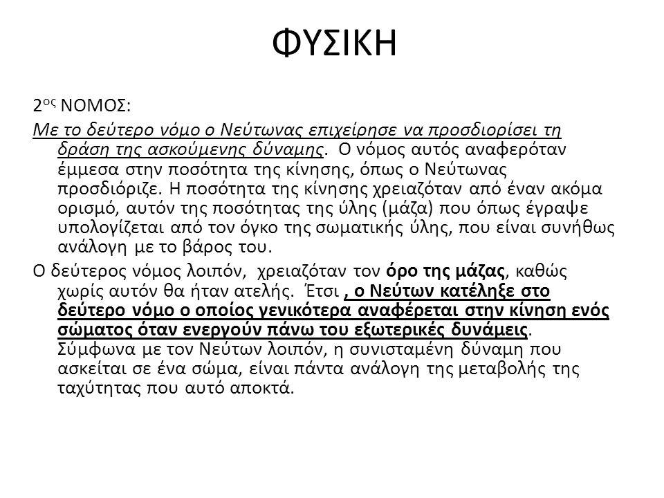 ΦΥΣΙΚΗ 2ος ΝΟΜΟΣ: