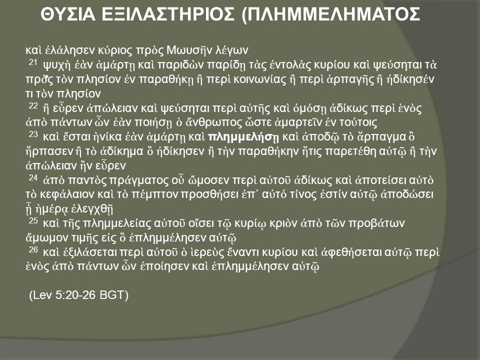 ΘΥΣΙΑ ΕΞΙΛΑΣΤΗΡΙΟΣ (ΠΛΗΜΜΕΛΗΜΑΤΟΣ