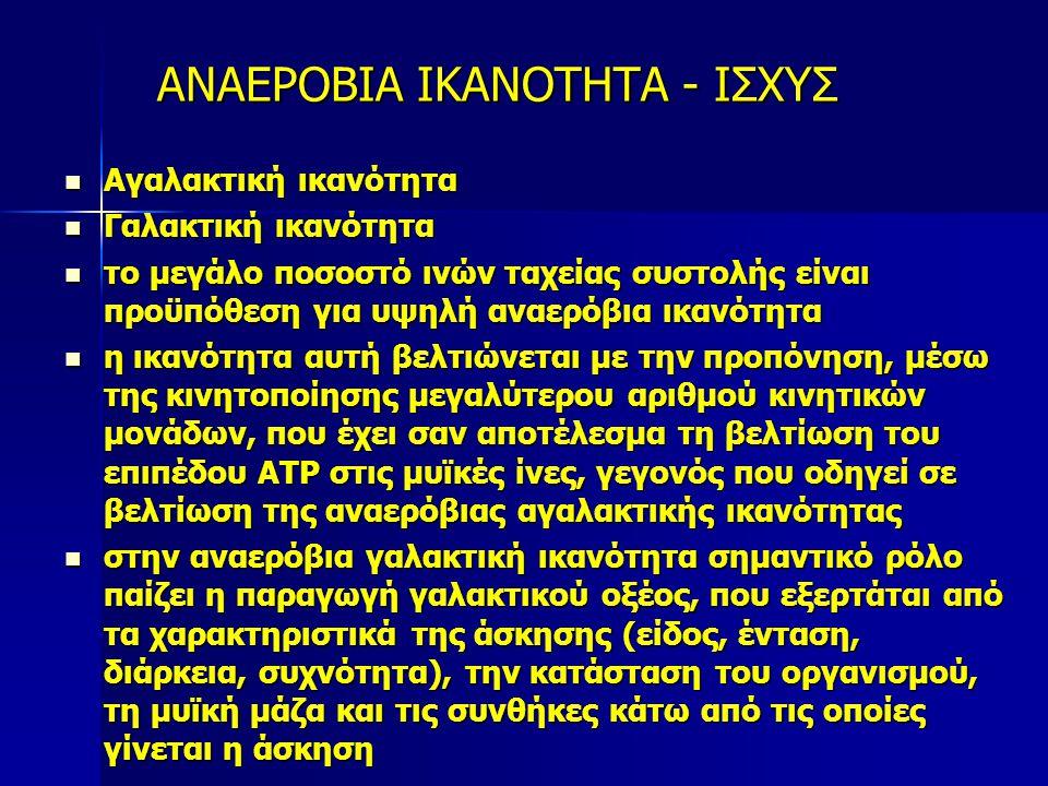 ΑΝΑΕΡΟΒΙΑ ΙΚΑΝΟΤΗΤΑ - ΙΣΧΥΣ