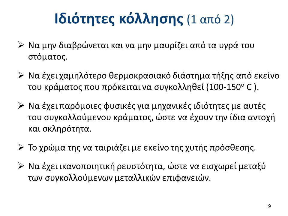 Ιδιότητες κόλλησης (2 από 2)