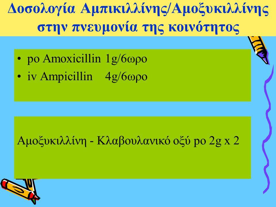Δοσολογία Αμπικιλλίνης/Αμοξυκιλλίνης στην πνευμονία της κοινότητος