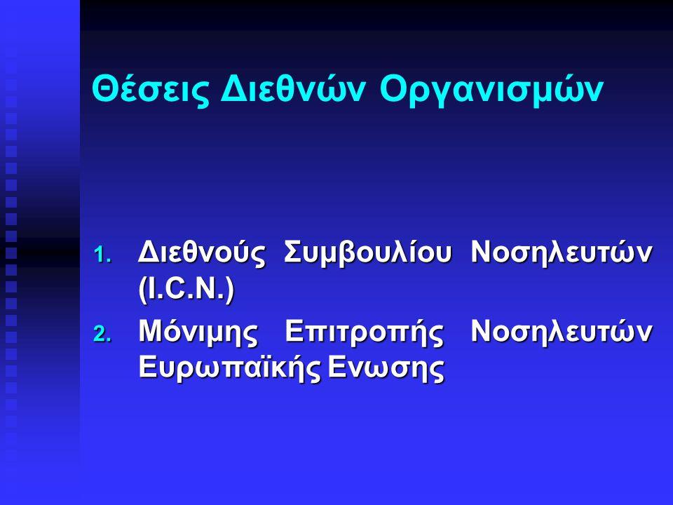 Θέσεις Διεθνών Oργανισμών