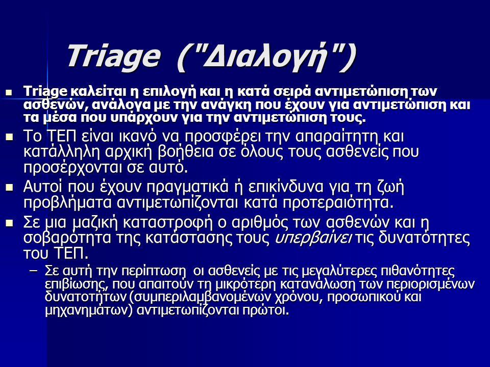 Triage ( Διαλογή )
