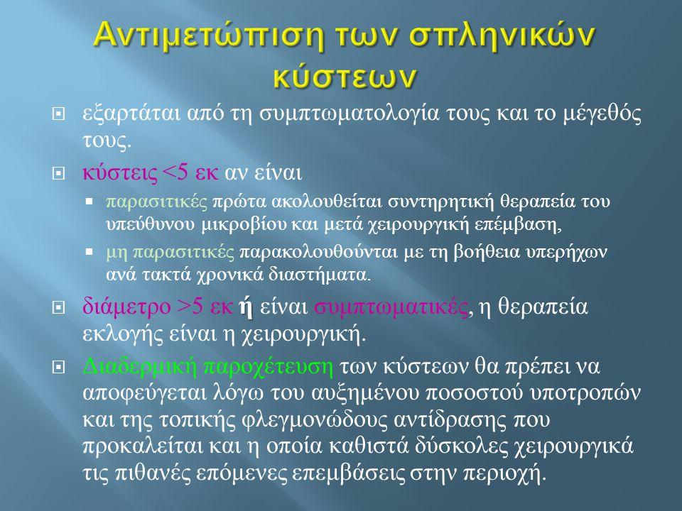 Αντιμετώπιση των σπληνικών κύστεων