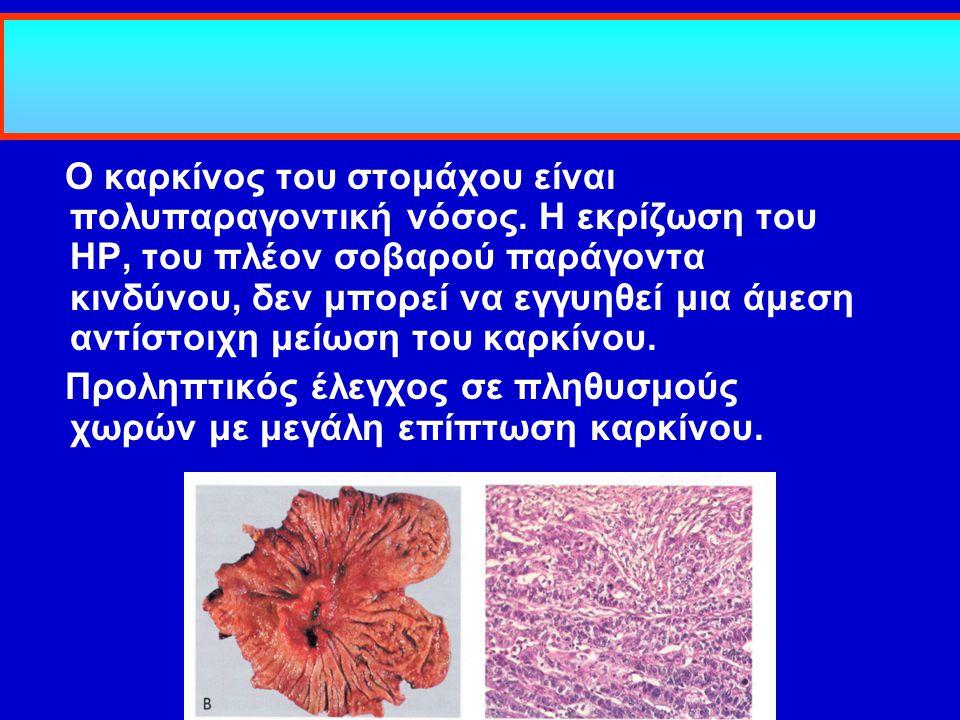 Ο καρκίνος του στομάχου είναι πολυπαραγοντική νόσος