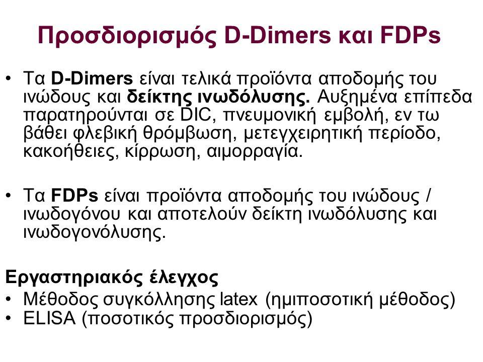 Προσδιορισμός D-Dimers και FDPs