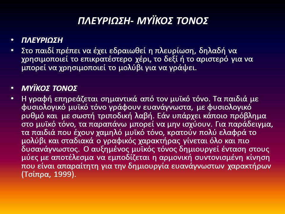 ΠΛΕΥΡΙΩΣΗ- ΜΥΪΚΟΣ ΤΟΝΟΣ