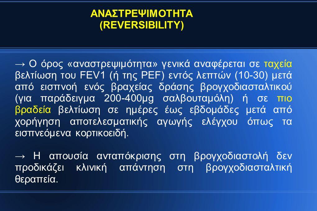 ΑΝΑΣΤΡΕΨΙΜΟΤΗΤΑ (REVERSIBILITY)