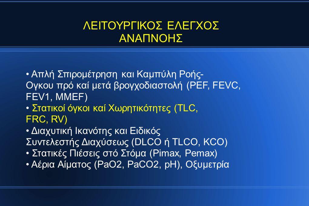 ΛΕΙΤΟΥΡΓΙΚΟΣ ΕΛΕΓΧΟΣ ΑΝΑΠΝΟΗΣ