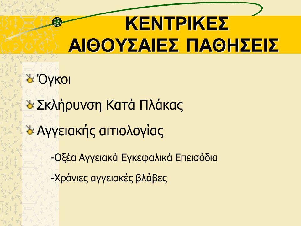 ΚΕΝΤΡΙΚΕΣ ΑΙΘΟΥΣΑΙΕΣ ΠΑΘΗΣΕΙΣ