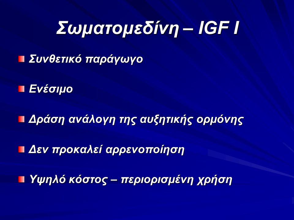 Σωματομεδίνη – IGF I Συνθετικό παράγωγο Ενέσιμο