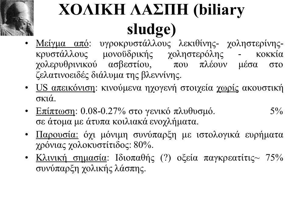 ΧΟΛΙΚΗ ΛΑΣΠΗ (biliary sludge)