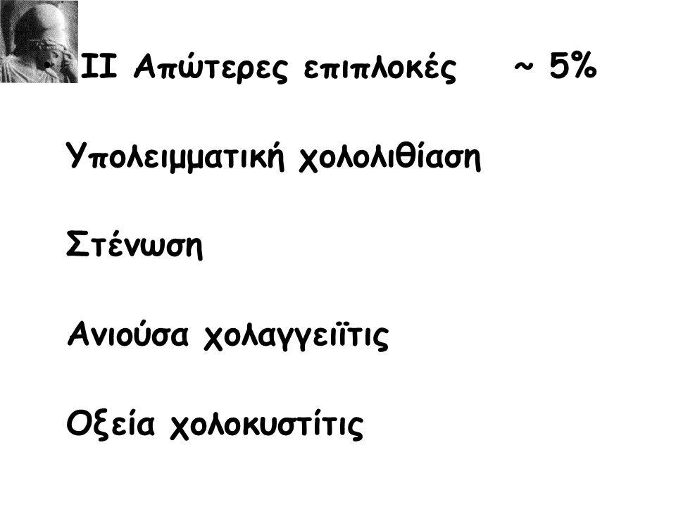 ΙΙ Απώτερες επιπλοκές ~ 5%