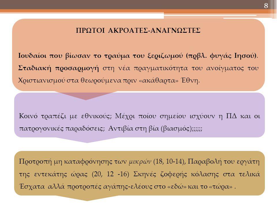 ΠΡΩΤΟΙ ΑΚΡΟΑΤΕΣ-ΑΝΑΓΝΩΣΤΕΣ