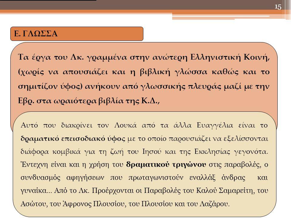 Ε. ΓΛΩΣΣΑ