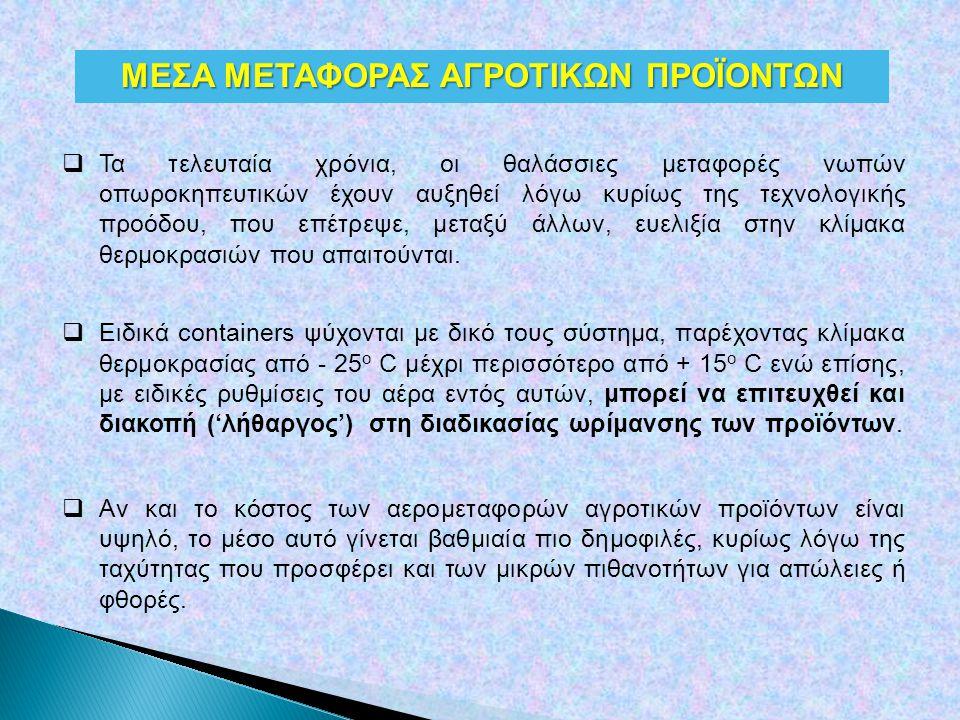 ΜΕΣΑ ΜΕΤΑΦΟΡΑΣ ΑΓΡΟΤΙΚΩΝ ΠΡΟΪΟΝΤΩΝ