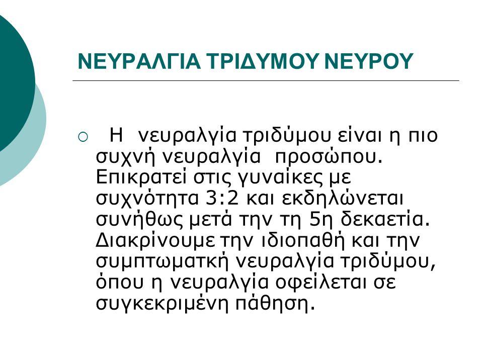 ΝΕΥΡΑΛΓΙΑ ΤΡΙΔΥΜΟΥ ΝΕΥΡΟΥ