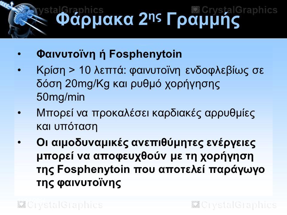 Φάρμακα 2ης Γραμμής Φαινυτοϊνη ή Fosphenytoin