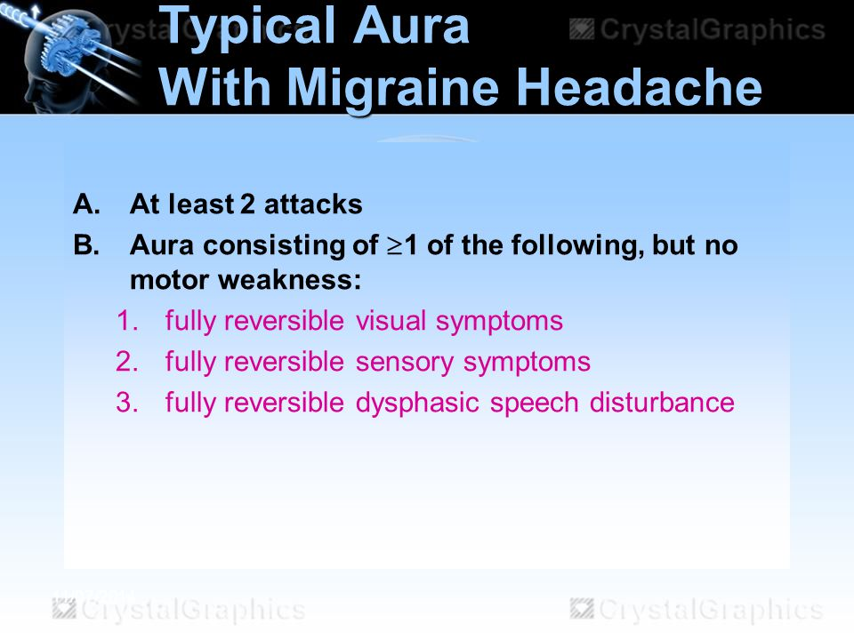Typical Aura With Migraine Headache