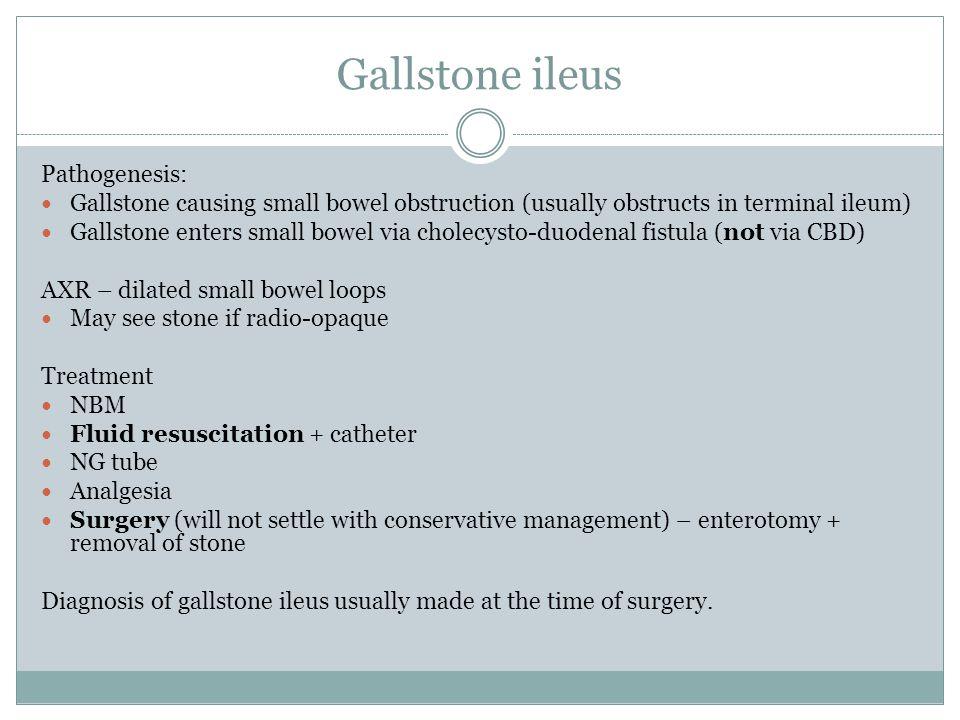 Gallstone ileus Pathogenesis: