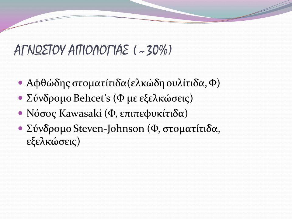 ΑΓΝΩΣΤΟΥ ΑΙΤΙΟΛΟΓΙΑΣ (~30%)