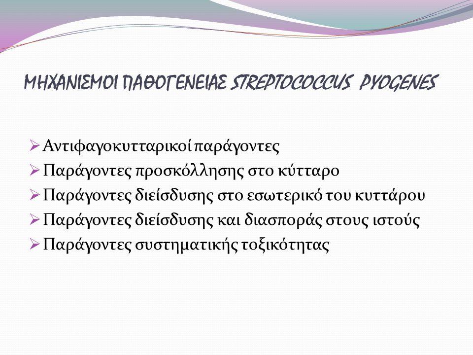 ΜΗΧΑΝΙΣΜΟΙ ΠΑΘΟΓΕΝΕΙΑΣ STREPTOCOCCUS PYOGENES