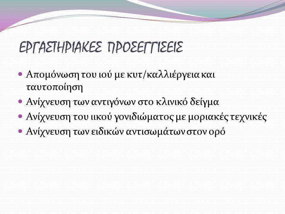 ΕΡΓΑΣΤΗΡΙΑΚΕΣ ΠΡΟΣΕΓΓΙΣΕΙΣ