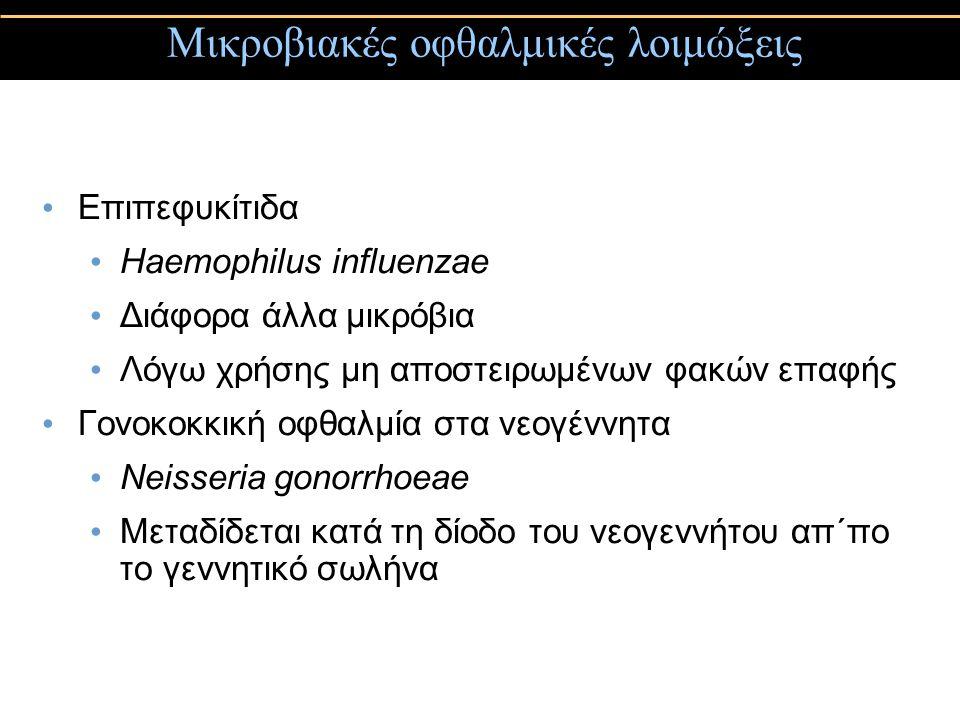 Μικροβιακές οφθαλμικές λοιμώξεις