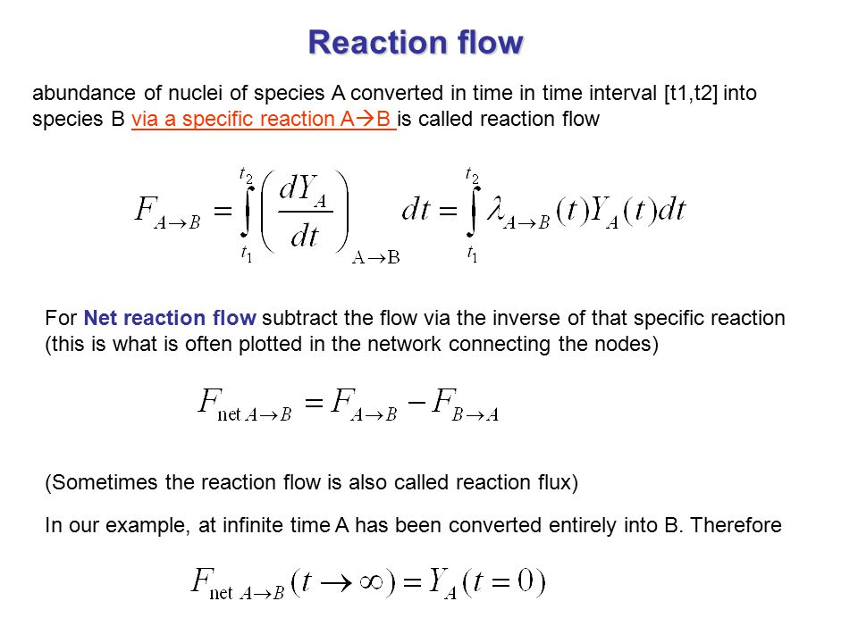Reaction flow