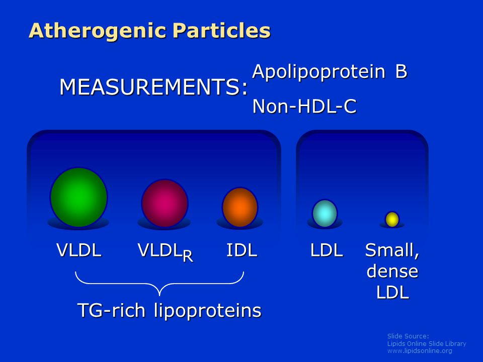 MEASUREMENTS: Atherogenic Particles Apolipoprotein B Non-HDL-C