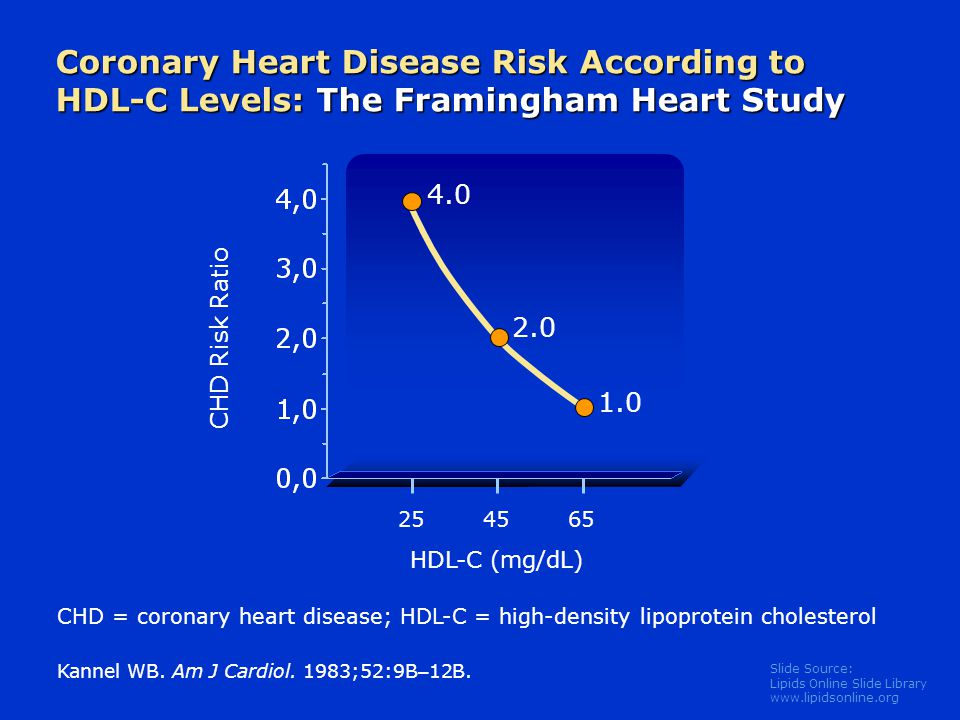Coronary Heart Disease Risk According to HDL-C Levels: The Framingham Heart Study