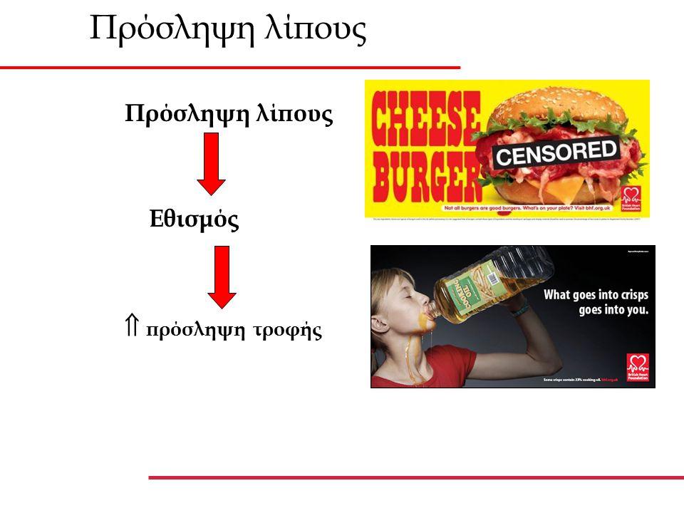 Πρόσληψη λίπους Πρόσληψη λίπους Εθισμός  πρόσληψη τροφής